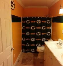 home depot green bay green bay packers bathroom finally finished home depot carries