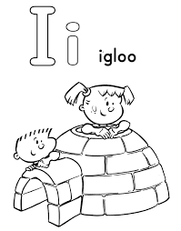 Small Picture Alphabet Color Pages I For Igloo Alphabet Coloring pages of