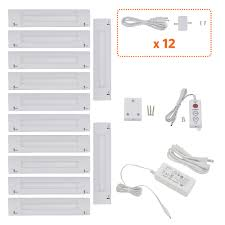 lilium 6 inch cool white modular led under cabinet lighting pro kit 12 panels cabinet lighting 6