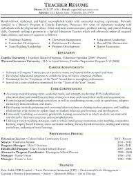 Resume Template For Teachers Bartender Resume Sample Resume For ...
