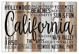 california est 1850 18x12 reclaimed