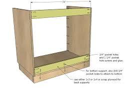 Ana White   Kitchen Cabinet Sink Base 36 Full Overlay Face Frame ...