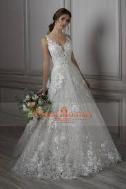 2018 a line wedding dresses straps lace with applique and beads us