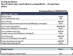 Product Profitability Analysis Excel New Product Sales And Profit Forecasting Model