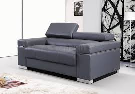 Soho Sofa in Grey Leather/Leather Match by J&M w/Options