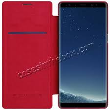 samsung flip phone red. discount nillkin ultra-thin luxury flip leather wallet case cover for samsung galaxy note 8 phone red