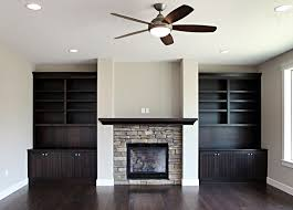 built in entertainment center with fireplace. Thumb Great Room Traditional Style Western Maple Dark Black Color Wainscot Panel Mantel Bookshelves Entertainment Center Built In With Fireplace