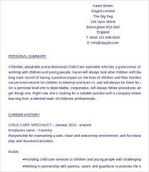 Child Care Resume Template Impressive 28 Child Care Resume Templates PDF DOC Free Premium Templates
