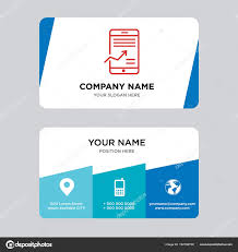 Mobile Stock Data Analysis Business Card Design Template — Stock ...