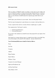 Template 10 Resume References Template Applicationsformat Info
