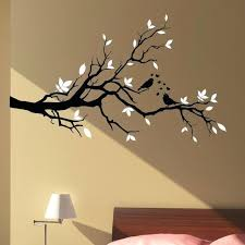 tree branch wall art big size large love birds fl hearts stickers home decal diy tree branch wall art