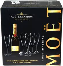 set moet chandon brut imperial gift set 6 bottles 6 gles reviews