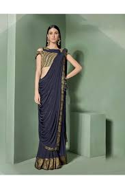 Designer Stitched Saree Mohmanthan Marvella One Minute Designer Readymade Saree 5307
