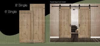8 single door knotty alder 1 panel barn door