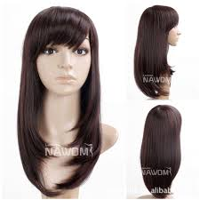 Japanese Straight Hair Style cheap supply japanese chestnut color long hair qi liu straight wig 1818 by stevesalt.us