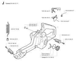 husqvarna 350 2004 03 chainsaw fuel tank spare parts diagram