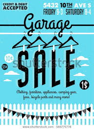 Free Yard Sale Signs Garage Yard Sale Signs Box Household Stock Vector Royalty