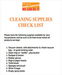 cleaning supplies list 43 list templates in pdf