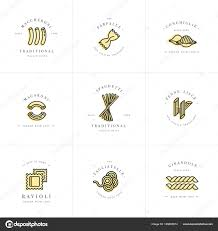 Italian Logos Vector Set Of Logo Design Templates And Emblems Or Badges