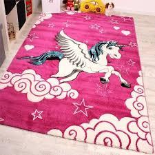 details about baby girl rug pink unicorn magic horse kids bedroom carpet playroom nursery mat
