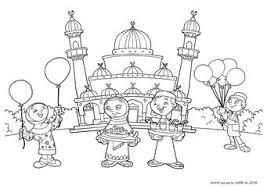 Kleurplaat Suikerfeest Reis Rond De Wereld Eid Al Adha Muslim