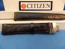 citizen watch band bl8000 03a black leather eco drive 20mm curved end strap