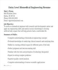 Biomedical Engineer Sample Resume Inspiration Resume Biomedical Engineering Nmdnconference Example Resume