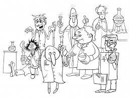 Libro Da Colorare Di Personaggi Dei Cartoni Animati Scienziati