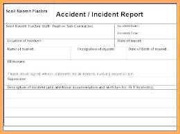 Accident Report Form Template Incident Report Form Template Word
