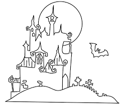 Small Picture Halloween coloring book for kids scary and funny coloring pages