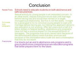 labeling a persuasive essay color coding activity ppt conclusion schools need to educate students on both abstinence and safe sex practices