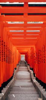 Tokyo city geometric gates in vibrant ...