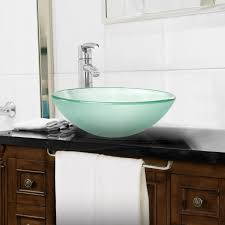 glass vessel sinks for bathrooms. Modern Glass Vessel Sink - Bathroom Vanity Bowl Round Frosted Mixwholesale.com Sinks For Bathrooms