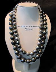 goldmine jewellery 14kt black pearl necklaces