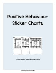 Behaviour Incentive Charts Positive Behaviour Sticker Charts Full Product