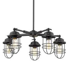 seaport 5 light black chandelier