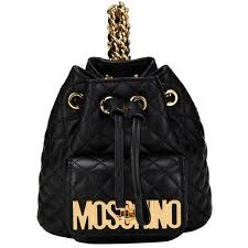 Pre-owned Moschino Quilted Mini Leather Backpack ($1,050) ❤ liked ... & Black quilt Adamdwight.com