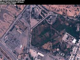 imagry analyst satellite images expose gadhafis lair earth imaging journal