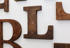 wooden letters letter wall decor