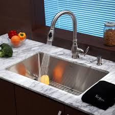 kraus khu100 30 kpf2150 sd20 30 inch undermount single bowl stainless steel kitchen sink with kitchen faucet and soap dispenser expressdecor com