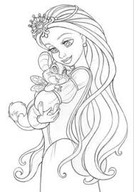 Small Picture Coloring page for later Or this Art Nouveau Ariel by