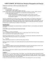 how to write ap rhetorical analysis paragraphs and essays how to write a rhetorical analysis essay