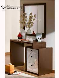 wooden small dressing table designs with mirror and drawers