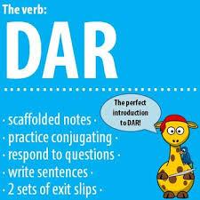 Verb Dar In Spanish Worksheets Teaching Resources Tpt