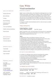 Visual Merchandiser Cv Sample