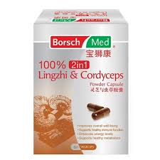borsch med 100 2in1 lingzhi and cordyceps powder capsule vitamins general supplements