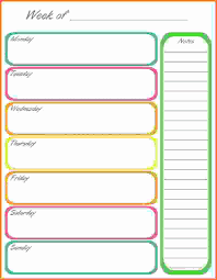 Free Weekly Planner Printable Calendar Templates 2013 Template 2017 ...