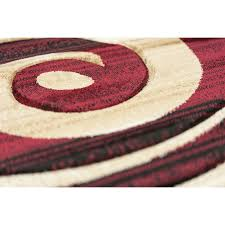 Discount & Overstock Wholesale Area Rugs | Discount Rug Depot | Modern Area Rug  Red Beige Blue Black Brown Wave Swirls Unique Pattern Scatter Rug - Featured