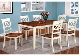 torrington white cherry extension dining table w 4 side chairs furniture of america