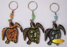 bali set of 100 wooden keyrings turtle